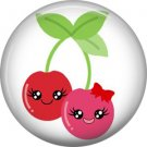 Cherries, Fruit Cuties 1 Inch Button Badge Pin - 0288
