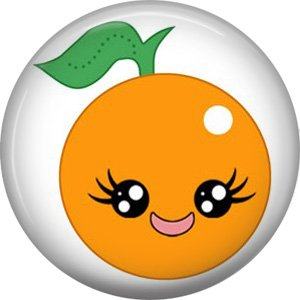 Orange, Fruit Cuties 1 Inch Button Badge Pin - 0289