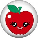 Apple, Fruit Cuties 1 Inch Button Badge Pin - 0290