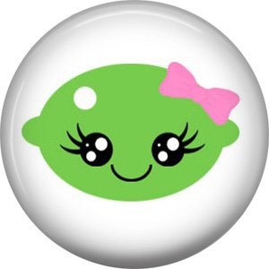 Lime, Fruit Cuties 1 Inch Button Badge Pin - 0293