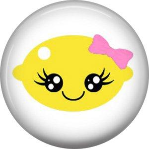 Lemon, Fruit Cuties 1 Inch Button Badge Pin - 0295