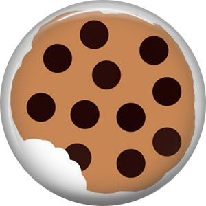 Chocolate Chip Cookie, 1 Inch Button Badge Pin - 0317