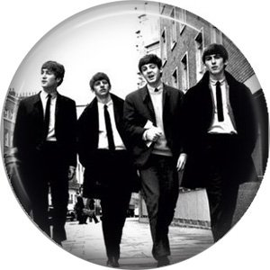 The Beatles Walking Down the Street, 1 Inch Button Badge Pin - 0277