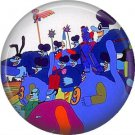 The Beatles Blue Meanies Yellow Submarine, 1 Inch Button Badge Pin - 0281