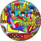 The Beatles Colorful Yellow Submarine Psychedelic Image, 1 Inch Button Badge Pin - 0282