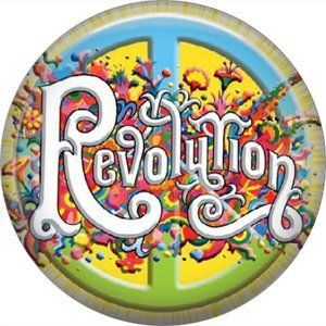 The Beatles Revolution, 1 Inch Button Badge Pin - 6101