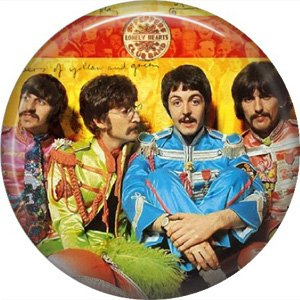 The Beatles Sargent Pepper Lonely Hearts Club Band, 1 Inch Button Badge Pin - 6102