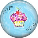 My Sweet Cupcake, 1 Inch Button Badge Pin - 0314