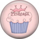 Cupcake Princess, 1 Inch Button Badge Pin - 0311