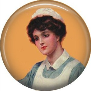 Vintage Nurse, 1 Inch Button Badge Pin of Occupation Nurse - 0270
