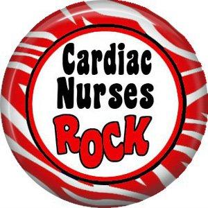 Cardiac Nurses Rock, 1 Inch Button Badge Pin of Occupation Nurse - 0258