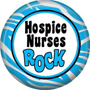 Hospice Nurses Rock, 1 Inch Button Badge Pin of Occupation Nurse - 0251