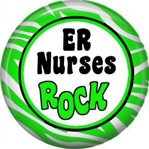 ER Nurses Rock, 1 Inch Button Badge Pin of Occupation Nurse - 0249