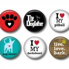 Set of 12 Dog is Love on 1 Inch Scrapbook Flair Medallions - Set 4