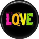 Love, 1 Inch Punk Princess Button Badge Pin - 0336