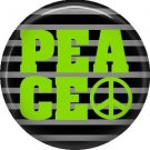 Peace in Neon Green, 1 Inch Punk Princess Button Badge Pin - 0339