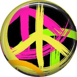 Abstract Peace Signs, 1 Inch Punk Princess Button Badge Pin - 0360