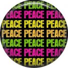 Repeated Peace, 1 Inch Pinback Punk Princess Button Badge Pin - 0384