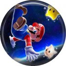 Mario in Space, Video Games 1 Inch Pinback Button Badge Pin - 0760