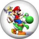 Mario on Yoshi, Video Games 1 Inch Pinback Button Badge Pin - 0762