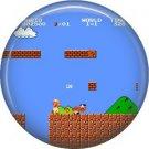 8 bit Mario Bros, Video Games 1 Inch Pinback Button Badge Pin - 0766