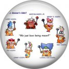 Bowser's Kids, Video Games 1 Inch Pinback Button Badge Pin - 0767
