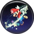 Mario with Stars, Video Games 1 Inch Pinback Button Badge Pin - 0768