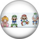 Mario Characters, Video Games 1 Inch Pinback Button Badge Pin - 0770