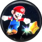 Mario with Star, Video Games 1 Inch Pinback Button Badge Pin - 0772