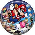 Raccoon Mario, Video Games 1 Inch Pinback Button Badge Pin - 0774