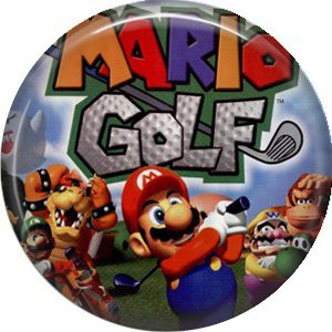 Mario Golf, Video Games 1 Inch Pinback Button Badge Pin - 0775