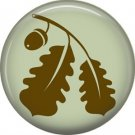 1 Inch Oak Leaves, Ecology Button Badge Pin - 1340