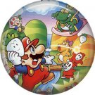 Mario Bros. Characters, Video Games 1 Inch Pinback Button Badge Pin - 0782