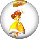 Princess Daisy Mario Bros., Video Games 1 Inch Pinback Button Badge Pin - 0785