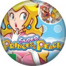 Princess Peach Mario Bros., Video Games 1 Inch Pinback Button Badge Pin - 0786