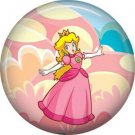 Princess Peach Mario Bros., Video Games 1 Inch Pinback Button Badge Pin - 0787