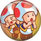 Toad Mario Bros., Video Games 1 Inch Pinback Button Badge Pin - 0789