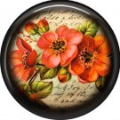 Orange Flower, 1 Inch Pinback Button Badge Pin - 0232