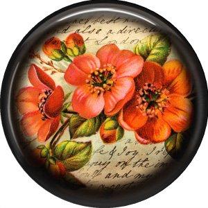 Orange Flower, 1 Inch Pinback Button Badge Pin - 0232