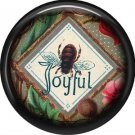 Joyful Bee, 1 Inch Pinback Button Badge Pin - 0239