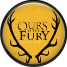 Ours is the Fury House Baratheon, Television Favorites 1 Inch Pinback Button Badge - 5003