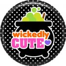 Wickedly Cute Halloween 1 Inch Pinback Button Badge Pin - 6211