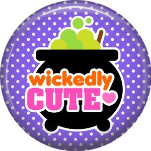 Wickedly Cute Halloween 1 Inch Pinback Button Badge Pin - 6217