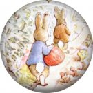 The Tale of Peter Rabbit 1 Inch Pinback Button Badge Pin - 6240