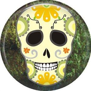 Dia de los Muertos Sugar Skull 1 inch Button Badge Pin - 6268