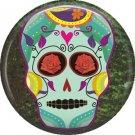 Dia de los Muertos Sugar Skull 1 inch Button Badge Pin - 6269