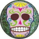 Dia de los Muertos Sugar Skull 1 inch Button Badge Pin - 6270