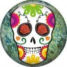 Dia de los Muertos Sugar Skull 1 inch Button Badge Pin - 6272