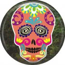 Dia de los Muertos Sugar Skull 1 inch Button Badge Pin - 6275