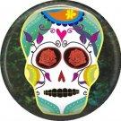 Dia de los Muertos Sugar Skull 1 inch Button Badge Pin - 6277